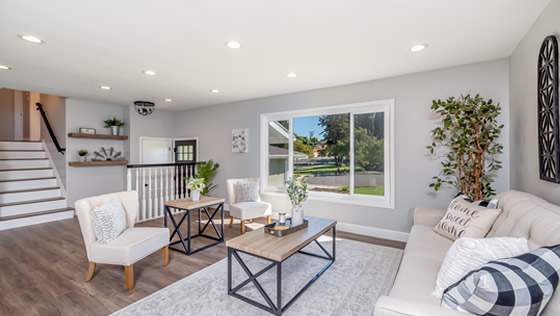 Living space designed by Lawrenceville Home Improvement